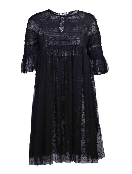 ERMANNO ERMANNO SCERVINO dress transparent dress transparent black