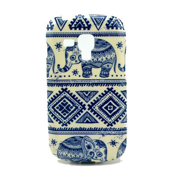 elephant aztec white and blue case phone case elefant tribal pattern samsung galaxy s3