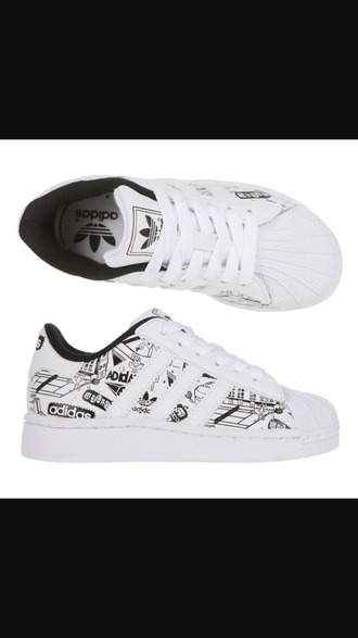 shoes black white adidas adidas superstars cute black and white