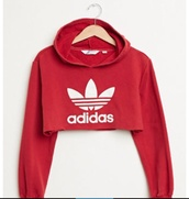 sweater,cropped sweater,hoodie,cropped hoodie,cropped,adidas,top