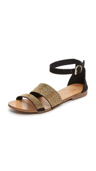 space sandals black shoes