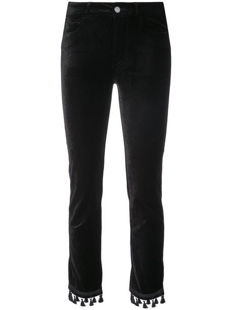 Paige women classic spandex cotton black pants