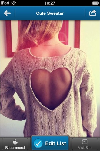 sweater boho heart tropical cute pullover knitwear
