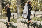 dress,outfit,outfit idea,fashion,black dress,black,fashion week,autumndress,fall outfits,fall dress,angora