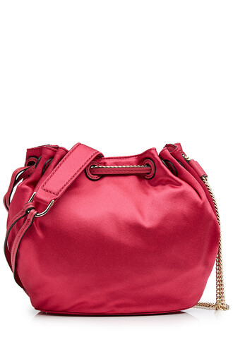 bag bucket bag satin pink