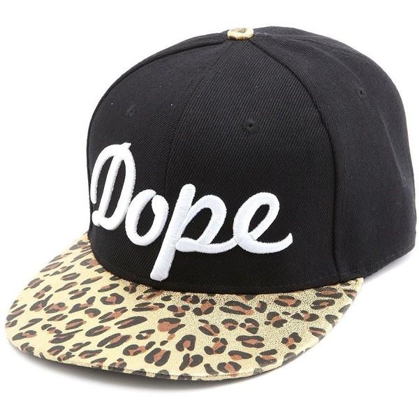 Dope Foiled Leopard Baseball Hat - Charlotte Russe - Polyvore