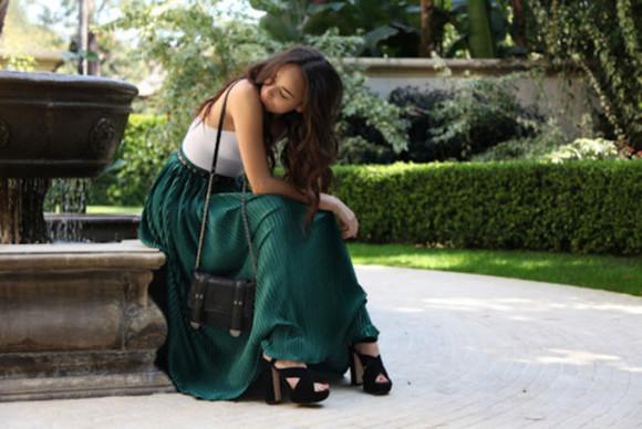 cotton green skirts