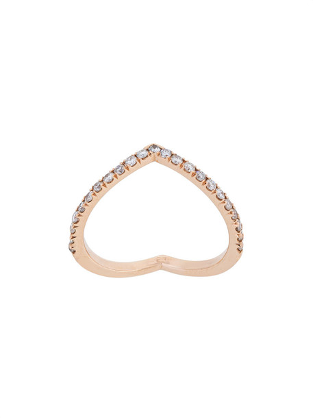 Eva Fehren rose gold rose women ring gold grey metallic jewels