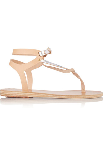 sandals leather sandals leather light brown neutral shoes