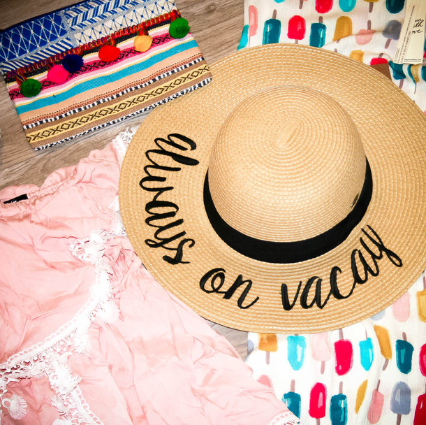 6592e33f6907c hat always on vacay embroidered sun hat sun hat floppy hat floppy straw hat  easter outfit