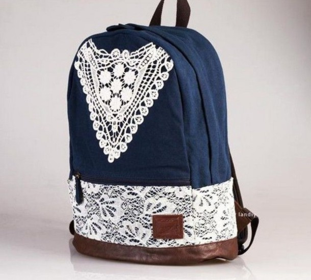Crochet Backpack Bag : ... +backpack-book+bag-school+bag-jeans-backpack-lace-fashion-crochet.jpg
