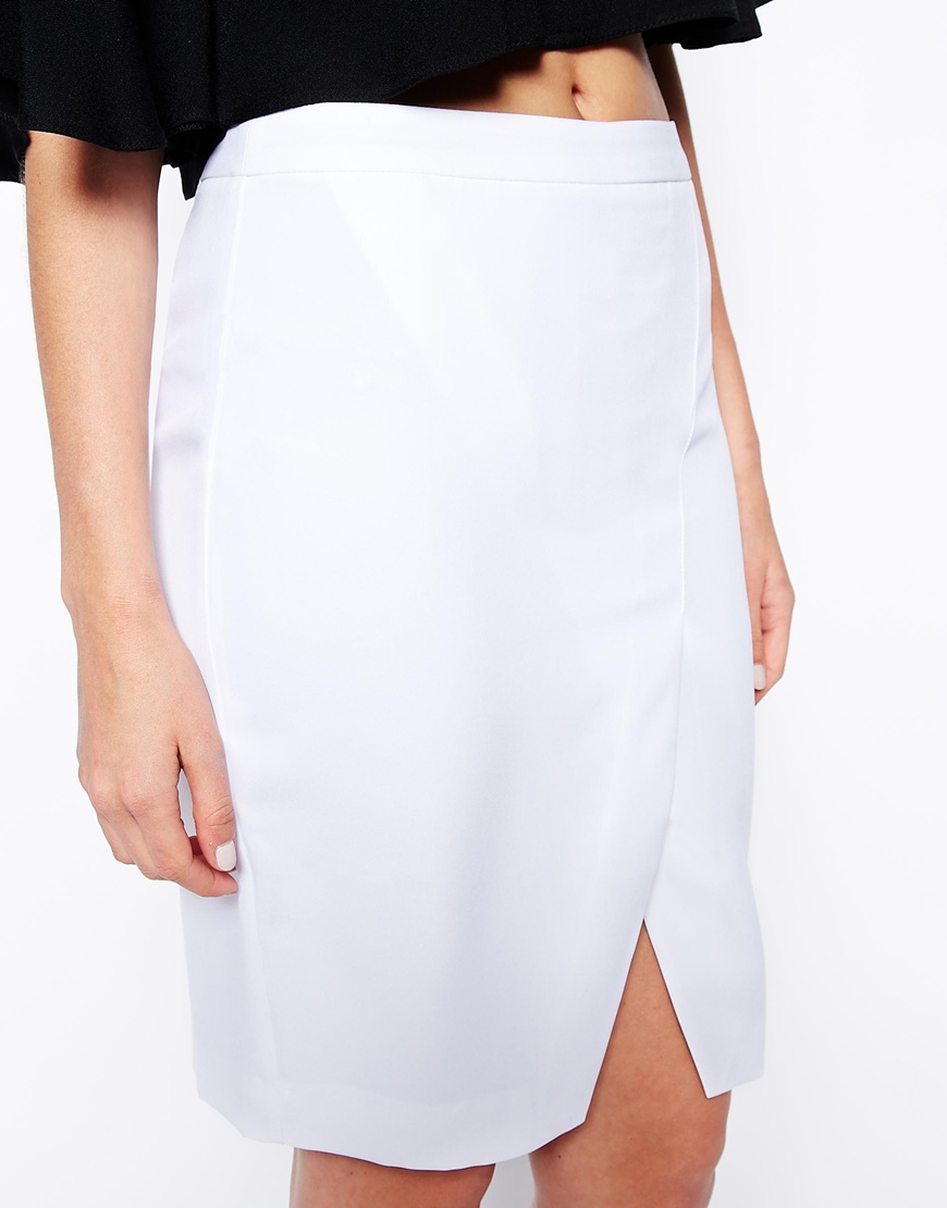 ASOS Pencil Skirt with Wrap at asos.com