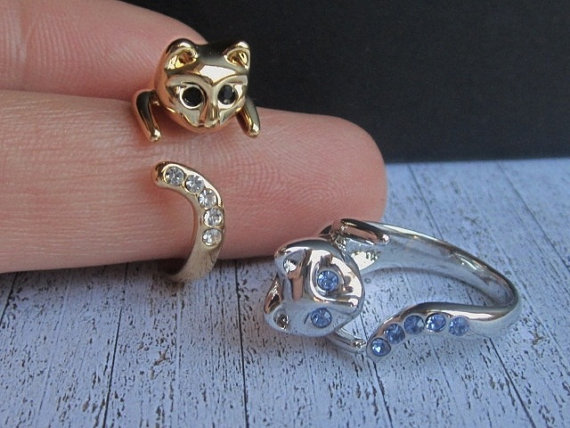 SALE  2 Kitty Rings  Buy 1 get 1 Free   Beautiful Cat by OnlyCats