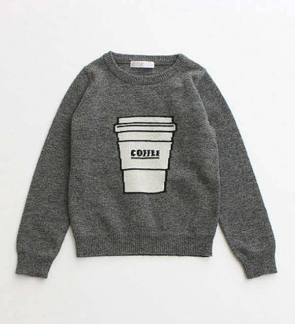 sweater grey coffee coffee fashion winter sweater starbucks coffee