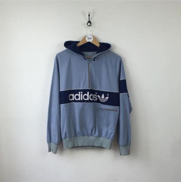 Jacket: adidas, vintage, hoodie, windbreaker - Wheretoget
