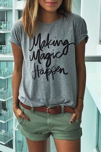 t-shirt grey quote on it casual summer trendy stylish cool tomboy zaful