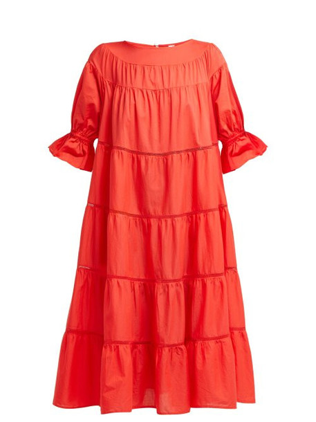 dress cotton red