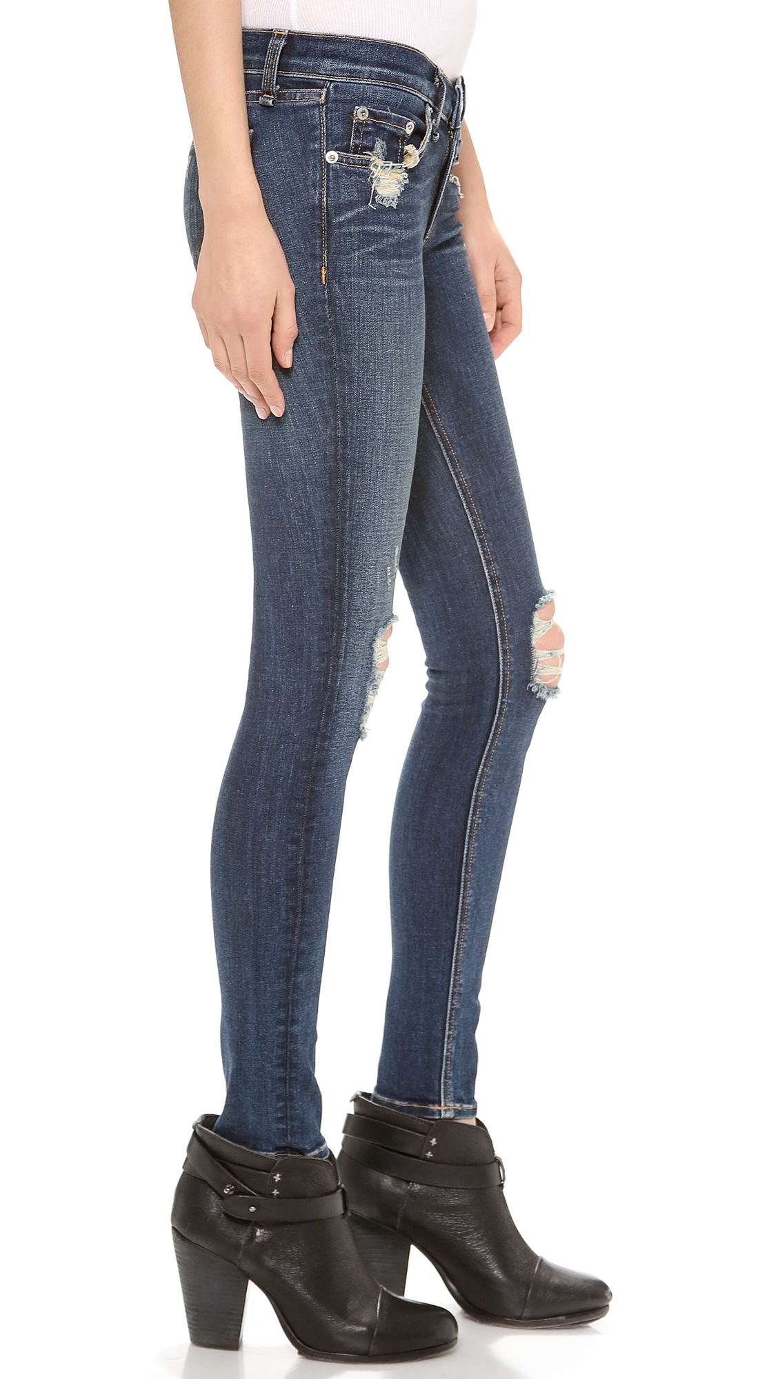 Rag & Bone/JEAN The Ripped Skinny Jeans | SHOPBOP