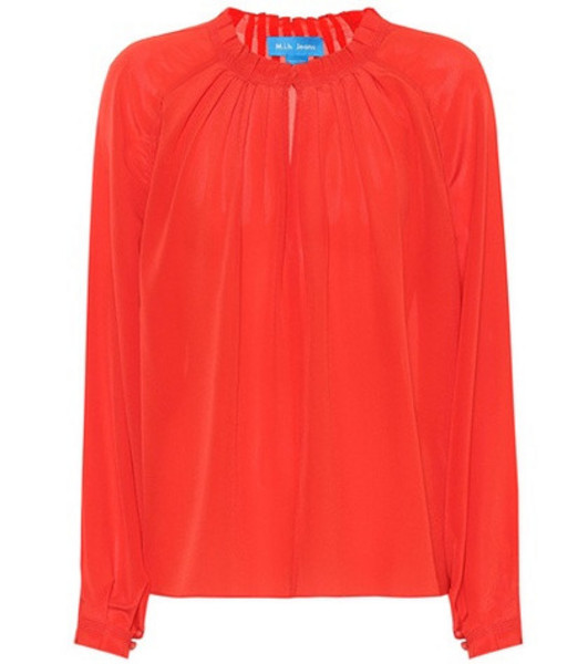 M.i.h Jeans Sidi silk blouse in red