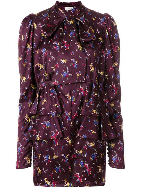 Attico dress floral dress long women floral purple pink