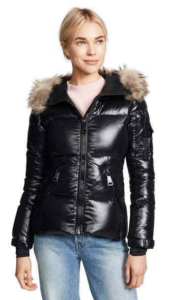 jacket down jacket short fur