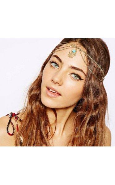 Hamsa Gold Head Chain - from The Fashion Bible UK