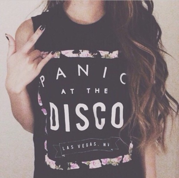 Panic At The Disco Band Merch Floral Band T Shirt Rock Muscle