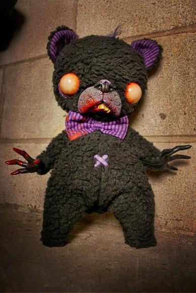 purple jewels black creepy creepy kawaii teddy bear bear scary horror halloween stuffed animal