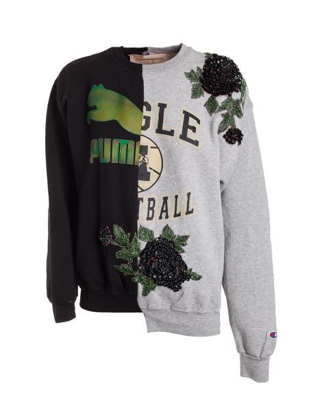 Night Market sweatshirt floral white black sweater