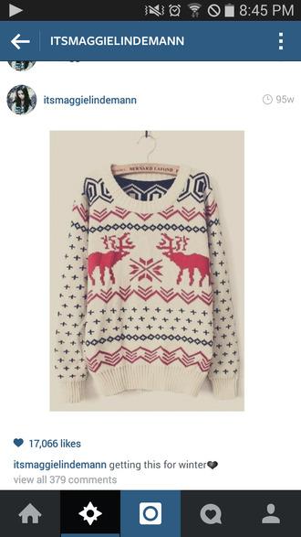 winter sweater deer christmas