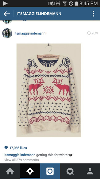 christmas winter sweater deer