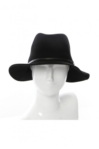 Janessa Leone Vera Hat with Leather and Metal Detail | SINGER22.com