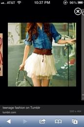 skirt,pink,mini,ruffle,belt,shirt,dress,country,country dress,white dress,lace dress,lace,leather,blue jeans,denim dress,denim,white lace dress,white lace,cream,cream skirt,white lace skirt,lace skirt,white skirt,brown belt,fluffy,adorablr,cute,white,blue yellow jeans dress,thick