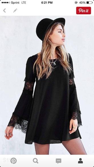 dress black cut cute lace