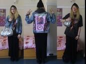 jacket,denim,90s style,80s style,indie,grunge,patch,patchwork,denim jacket