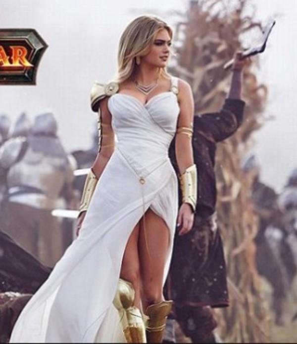 greek goddess, white dress, prom dress, kate upton, fantasy, maxi ...