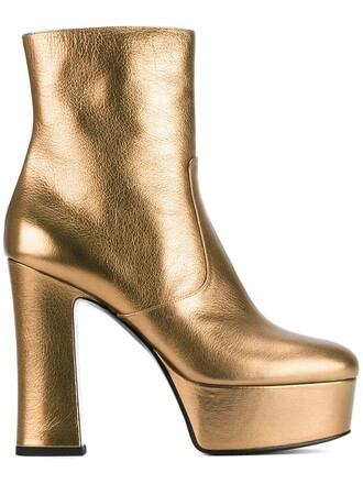 candy boots metallic shoes