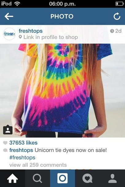 shirt unicorntiedye summer tie dye