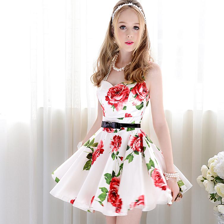 White Dress Floral