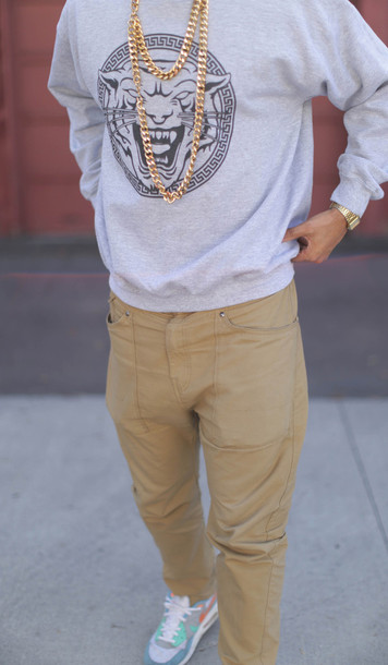 pants clothes chinos khaki slim style fashion t-shirt shoes sweater tiger grey hoodie jeans