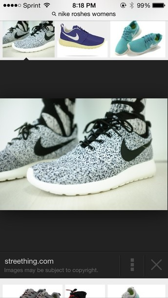 shoes speckled nike roshe run gray dots