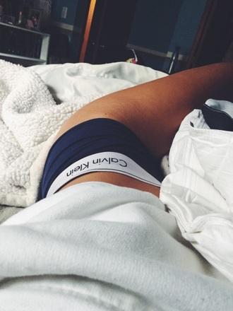 underwear calvin klein underwear panties blue