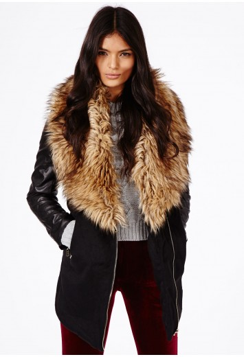 Orla fur collar detail coat