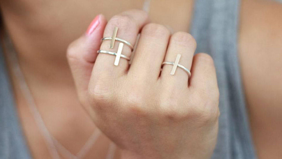 Tiny Script Initial Ring | Peggy Li