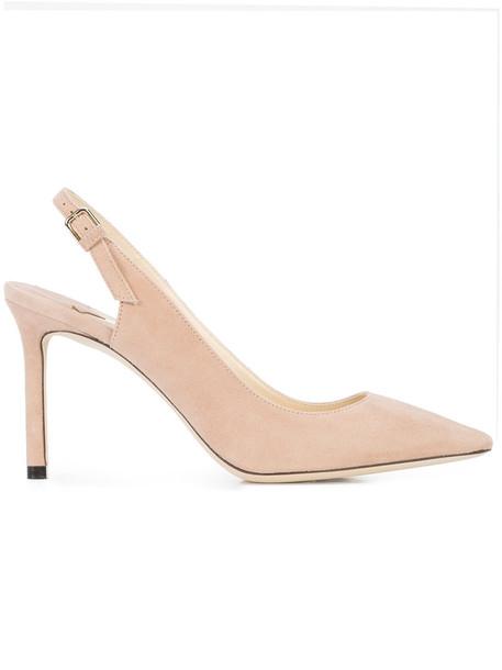 Jimmy Choo women pumps leather purple pink shoes