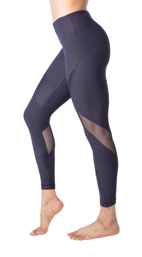 Ankle Legging with Contrast Mesh Inserts