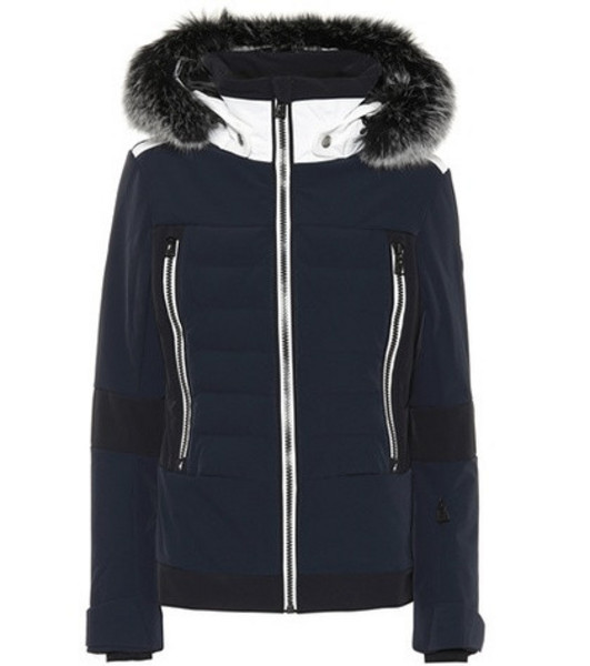 Toni Sailer Manou fur-trimmed ski jacket in blue