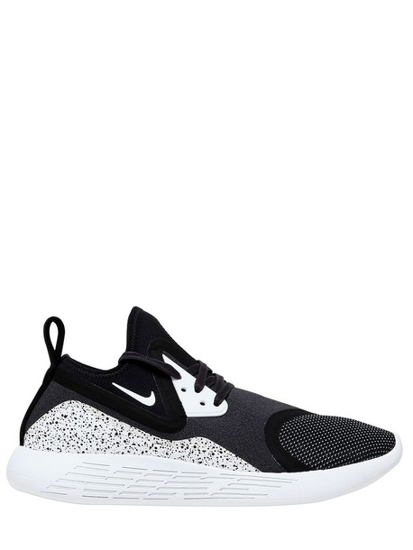 NIKE Lunar Charge Premium Sneakers in black white Wheretoget