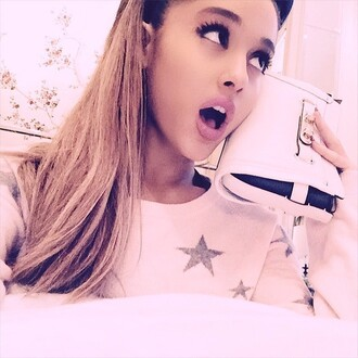 sweater stars ariana grande instagram purse