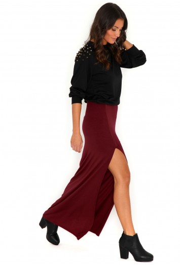 Jenna Split Maxi Skirt - skirts - missguided